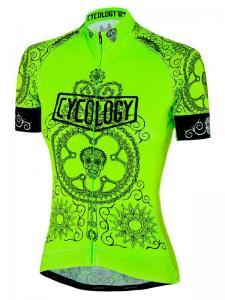 Day of the living lime dames fietsshirt