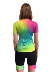 Trofeo dames wielershirt kleurrijk
